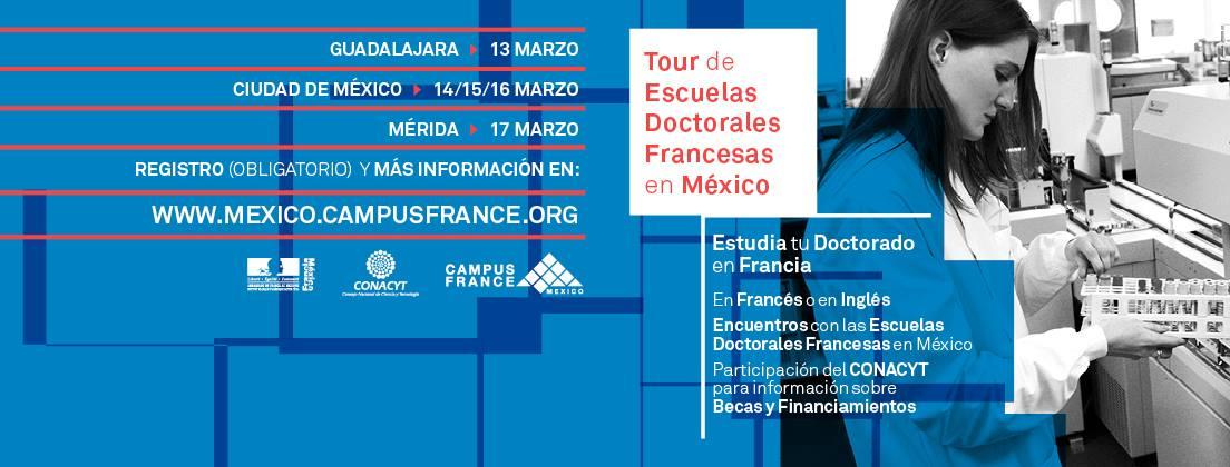 Tour de Escuelas doctorales francesas en México